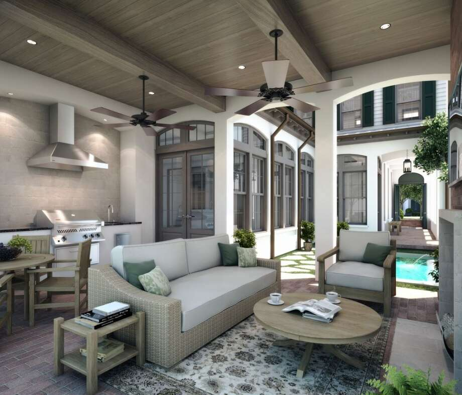 Homes will have outdoor dining areas.