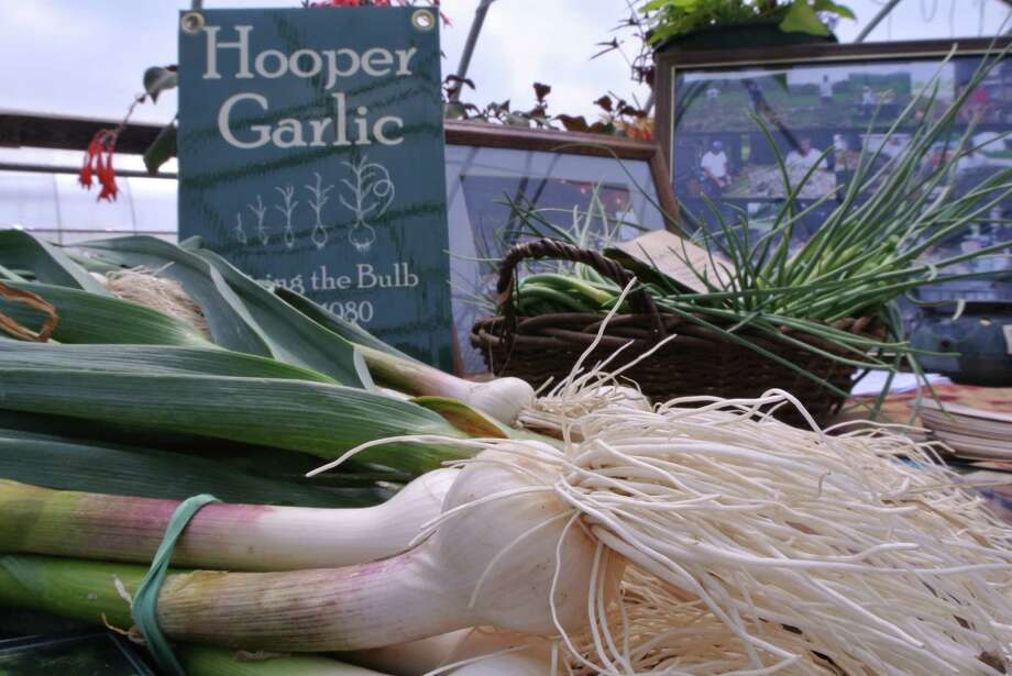 Hooper's Garlic in Fultonham was on display at Barber's Farm in Middleburgh. The businesses are just two among the many representing Schoharie County's booming agricultural industry. (Deanna Fox)