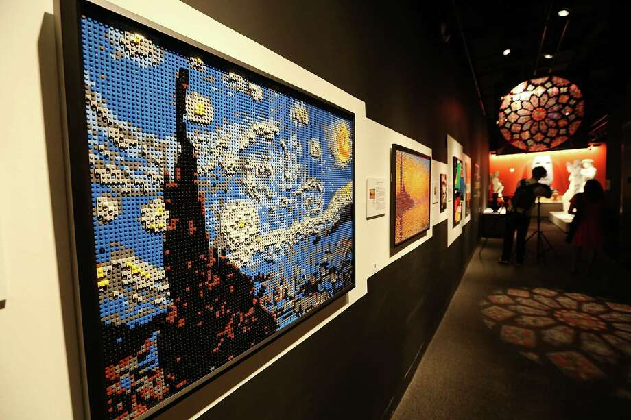 NEW YORK, NY - JUNE 18:  Pieces including 'Starry Night,' created by 'Nathan Sawaya, are displayed with others in the 'Art of the Brick' show at Discovery Times Square on June 18, 2013 in New York City.  Sawaya created the pieces entirely with LEGO toy bricks and the exhibition features over 100 works of art created from millions of the toy bricks. Many pieces mimic famous works of art. Photo: Mario Tama, Getty Images / 2013 Getty Images