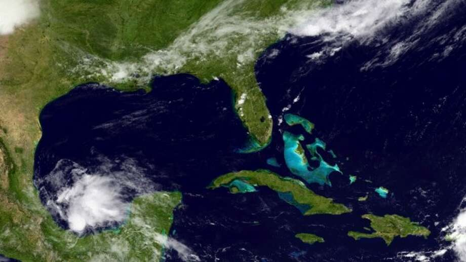 A satelite image of the storm at noon CST Wednesday. (NOAA)
