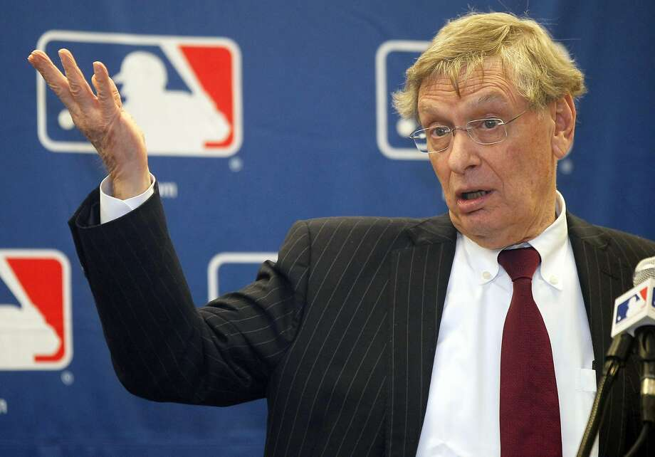 Bud Selig, looking a bit like Irwin Corey, is hoping to say goodbye to fans in all of MLB's cities. Photo: Charles Rex Arbogast, Associated Press
