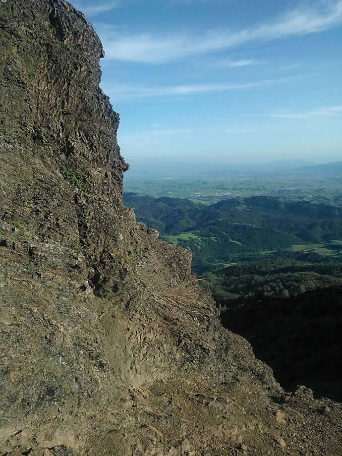 Check out the view from the peak of Mt. Diablo during a New Year's Day bike ride. Photo: Bek Phillips