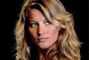 Top Brazilian model Gisele Bundchen in 2001 at age 21.