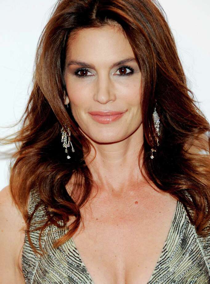 Model Cindy Crawford on Feb. 8, 2012 in New York at age 45. Photo: Evan Agostini, Associated Press / AGOEV