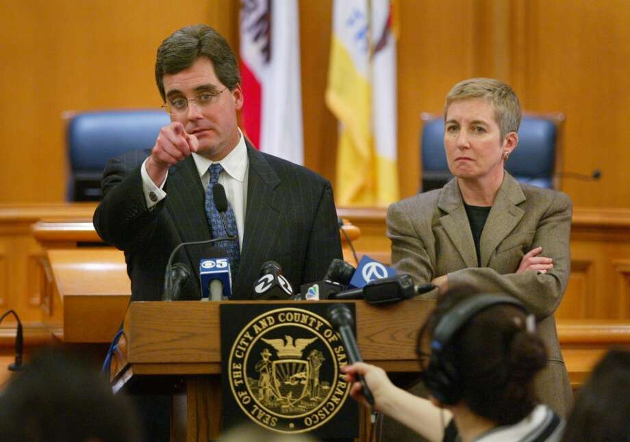 March 11, 2004:The California Supreme Court orders an immediate halt to same-sex weddings in San Francisco and says it will decide whether Newsom exceeded his authority in allowing the marriages.  San Francisco responds by suing the state in Superior Court, contending that California's ban on same-sex marriage is unconstitutional.