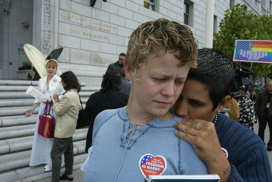 Aug. 12, 2004: The California Supreme Court rules that Newsom exceeded his authority when he authorized same-sex marriages in San Francisco and voids 3,955 marriages that were recorded between Feb. 12 and March 11.