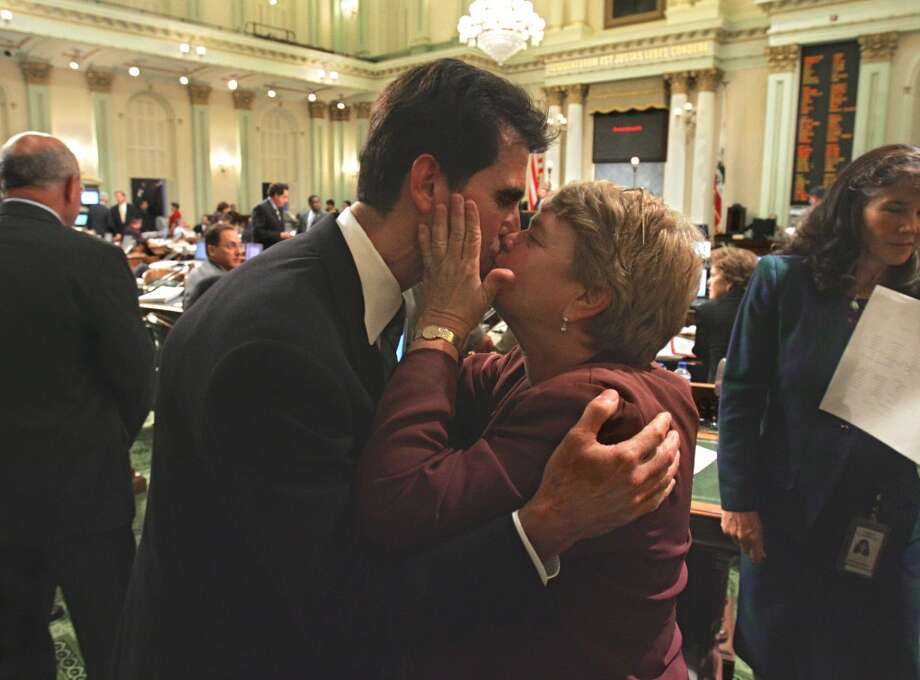 Sept. 6, 2005:The California Legislature became the first legislative body in the U.S. to approve same-sex marriages, as gay-rights advocates overcame two earlier defeats in the Assembly.