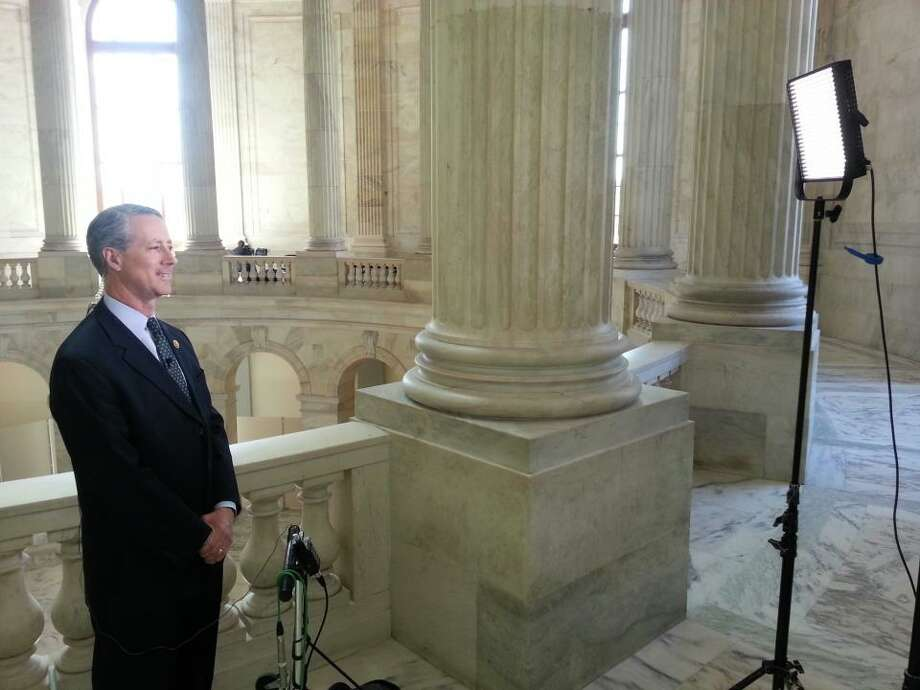 Rep. Mac Thornberry preparing to be on Fox News.