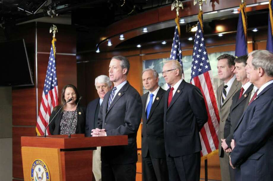 Rep. Mac Thornberry speaking at a House Armed Services Committee press conference on sequestration.