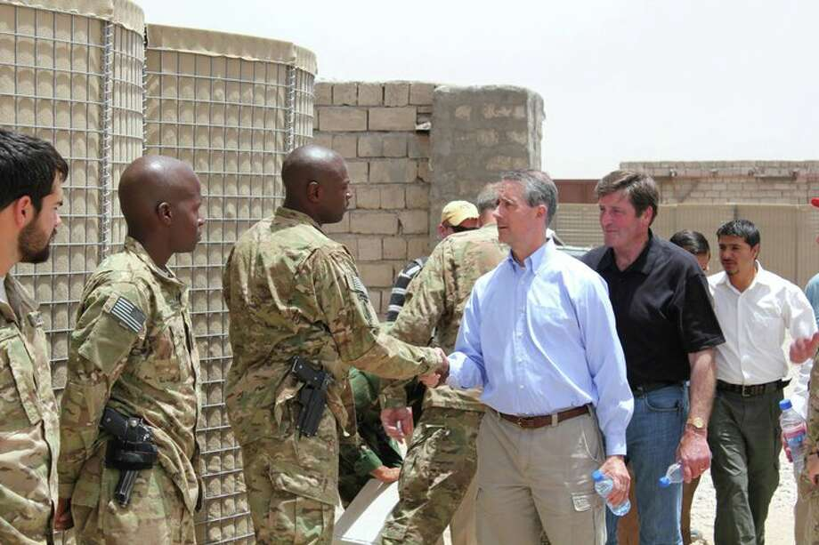 Rep. Mac Thornberry visiting troops in Afghanistan