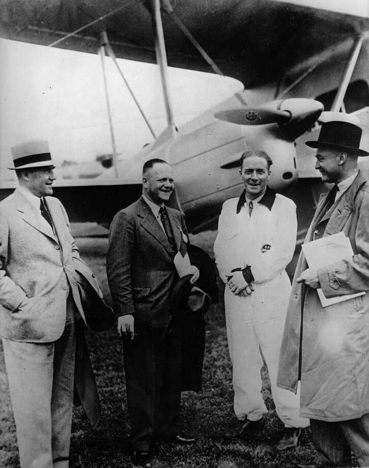 "Erhard Milch, state secretary of the German Reichsluftfahrtministerium (""Reich Aviation Ministry""), visits an airshow in Croydon, near London, on June 20, 1936. Photo: Imagno, Getty Images / 2013 Imagno"