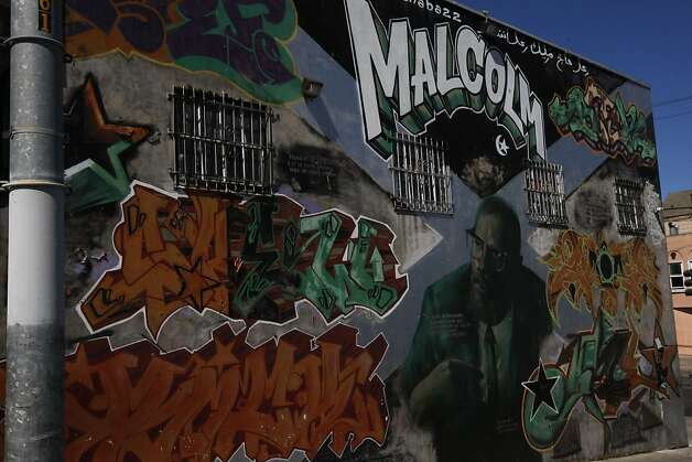Bayview has arts festival 3rd on third sfgate for Malcolm x mural
