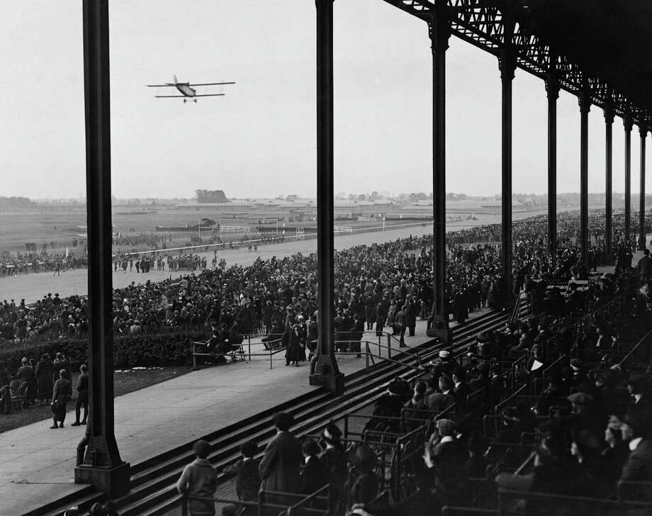 A U.S. Army aviation carnival takes place at at Belmont Park race course, Long Island, N.Y., circa 1925. Photo: FPG, Getty Images / 2007 Getty Images