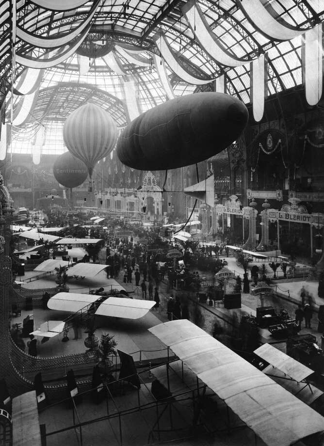 André Granet and Robert Esnault-Pelterie created the first Paris air show, held from September 25 to October 17, 1909, in Paris' Grand Palais. It attracted 100,000 visitors and 380 exhibitors.  Photo: Paul Thompson/FPG, Getty Images / 2008 Getty Images