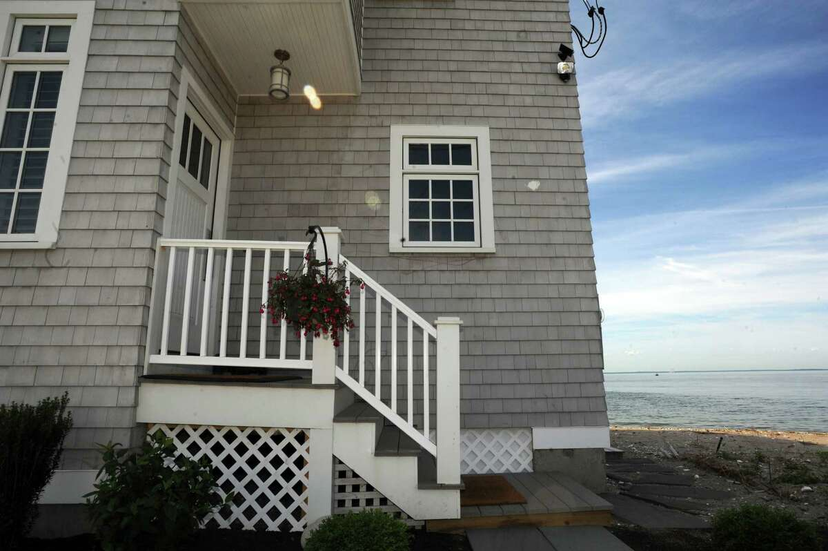 A home for sale at 2123 Fairfield Beach Road in Fairfield, Conn., which is listed for $2.5 million. Connecticut saw double digit growth in its housing market, the with the total number of transactions up 17 percent year-over-year in May, according to a report from RE/MAX of New England.