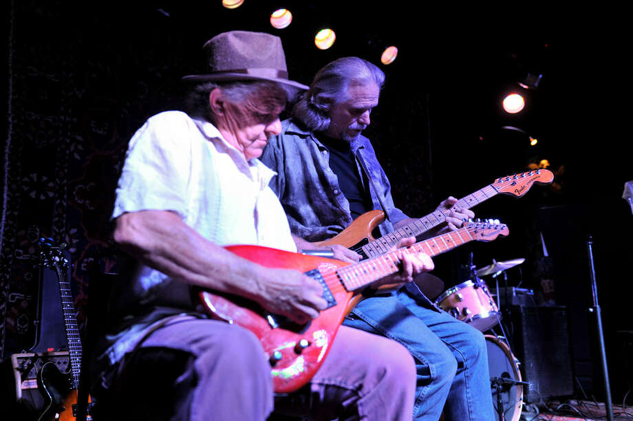 "Claude ""Butch"" Morgan (left with Jimmy Spacek) will hold his ""Dry"" CD release party Saturday. Photo: Express-News File Photo"