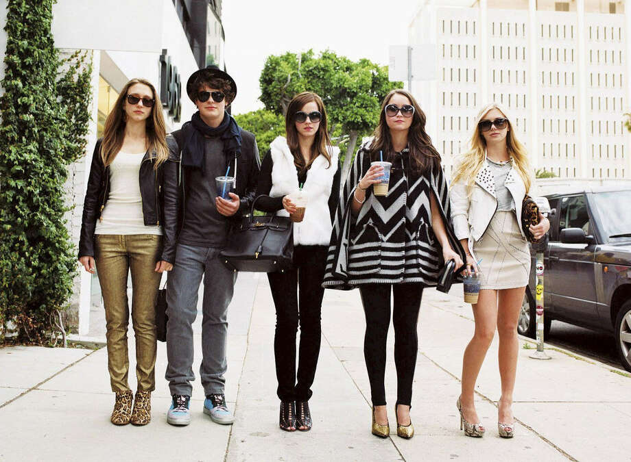 "Taissa Farmiga (from left), Israel Broussard, Emma Watson, Katie Chang and Claire Julien in ""The Bling Ring."" Photo: Courtesy Photo"