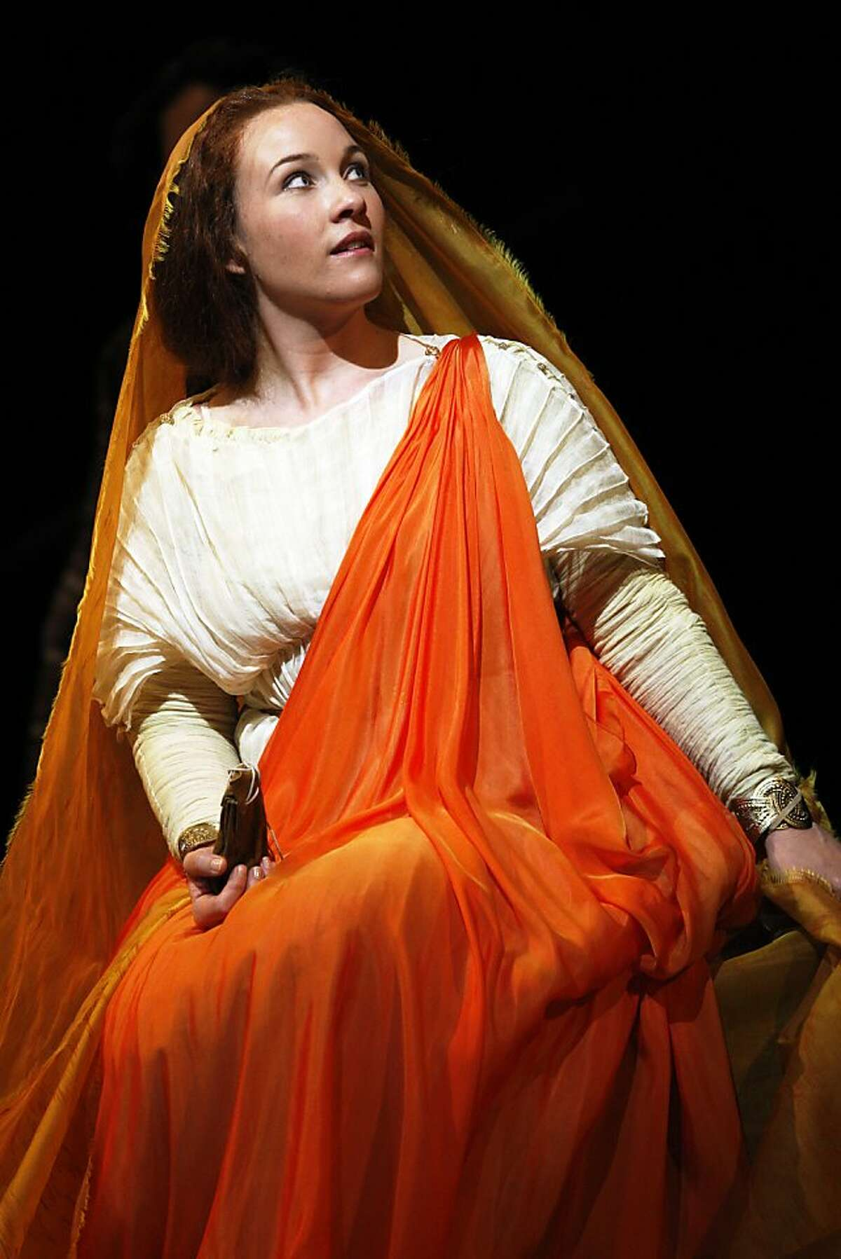 Sasha Cooke as Mary Magdalene in the world premiere of Mark Adamo's The Gospel of Mary Magdalene on Sunday, June 16, 2013 in San Francisco, Calif.