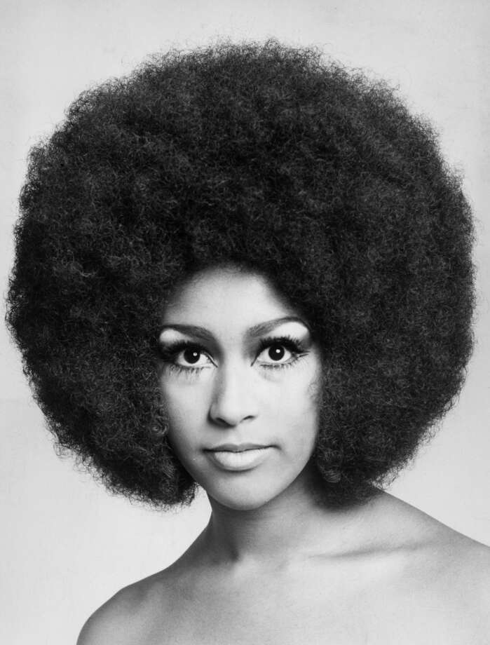 American pop singer Marsha Hunt with an afro hairstyle, January 1969.
