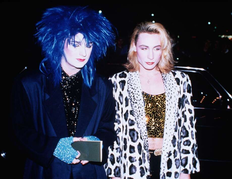 Singer Boy George and Marilyn out clubbing in London in 1982.
