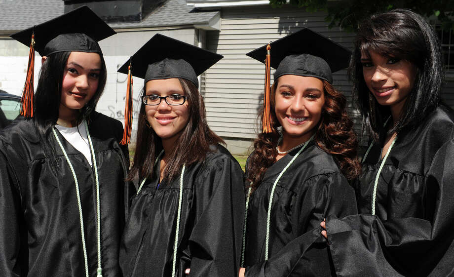 Commencement for the Bullard-Havens Technical High School Class of 2013, held at the Klein Memorial Auditorium, in Bridgeport, Conn. June 19th, 2013. Photo: Ned Gerard / Connecticut Post