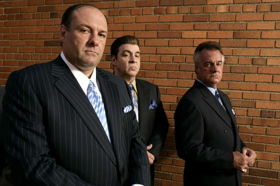 "This 2007 file photo originally supplied by HBO, shows James Gandolfini, left, Steven Van Zandt and Tony Sirico, right, members  of the cast of the HBO cable television mob drama ""The Sopranos."" HBO and the managers for Gandolfini say the actor died Wednesday, June 19, 2013, in Italy. He was 51. (AP Photo/HBO,Craig Blankenhorn)"