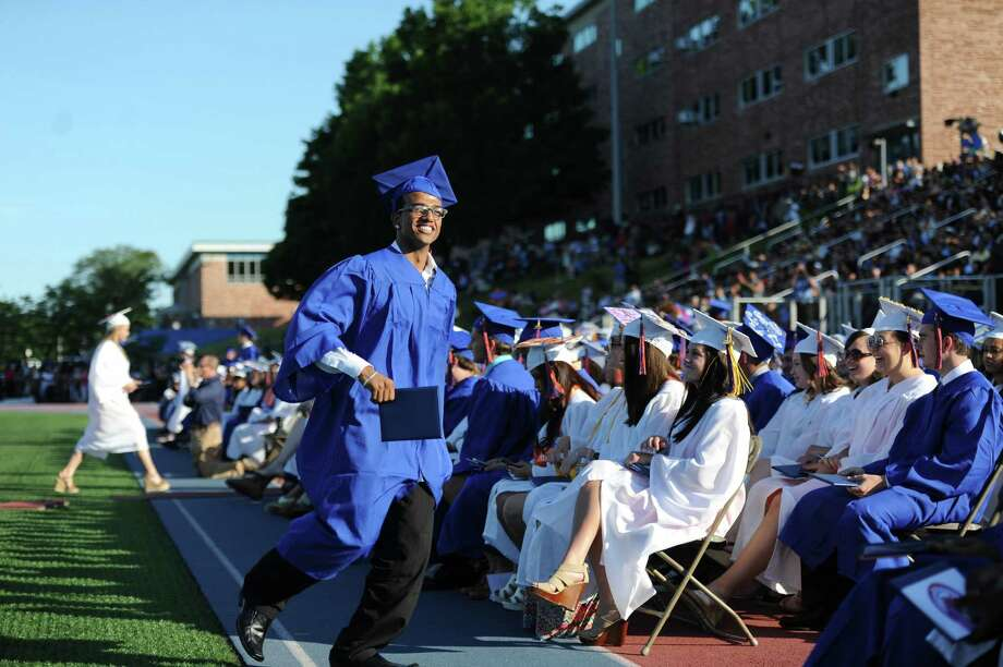 Photos from the Danbury High School commencement ceremony in Danbury, Conn. on Wednesday, June 19, 2013.  639 Danbury seniors crossed the stage at this year's graduation. Photo: Tyler Sizemore / The News-Times