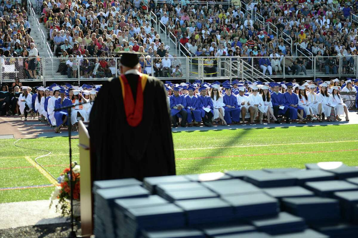 Photos from the Danbury High School commencement ceremony in Danbury, Conn. on Wednesday, June 19, 2013. 639 Danbury seniors crossed the stage at this year's graduation.