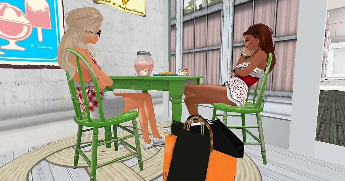An undated image from the online virtual world, Second Life.