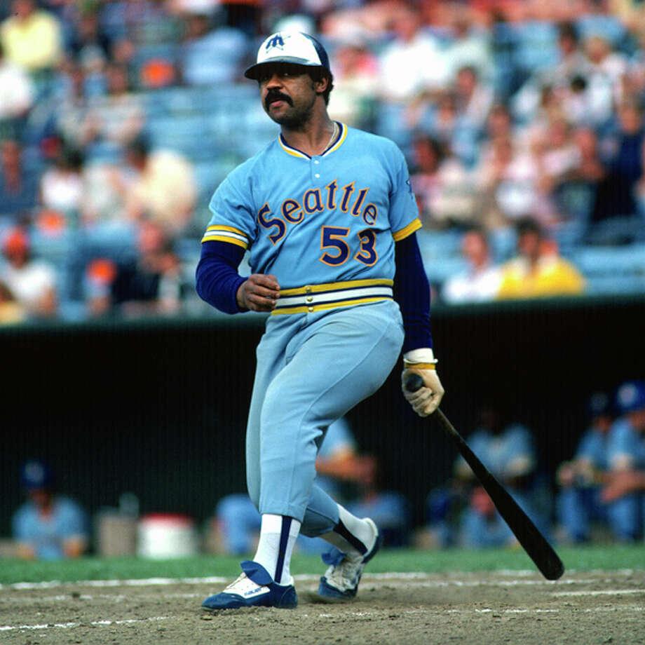 1979 Willie Horton -- 29 home runs designated hitter  Next four: 21 -- Ruppert Jones, CF 20 -- Dan Meyer, 3B 16 -- Bruce Bochte, 1B 15 -- Leon Roberts, RF  Photo: Focus On Sport, Getty Images / 1979 Focus on Sport
