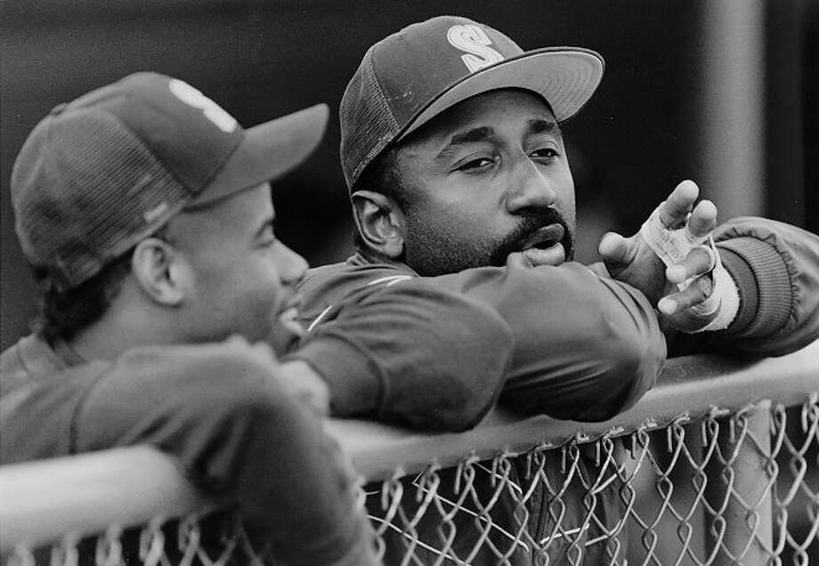 1989 Jeffrey Leonard -- 24 home runs designated hitter  Next four: 21 -- Alvin Davis, 1B 16 -- Ken Griffey Jr., CF 13 -- Greg Briley, LF 12 -- Jim Presley, 3B  Photo: KURT SMITH