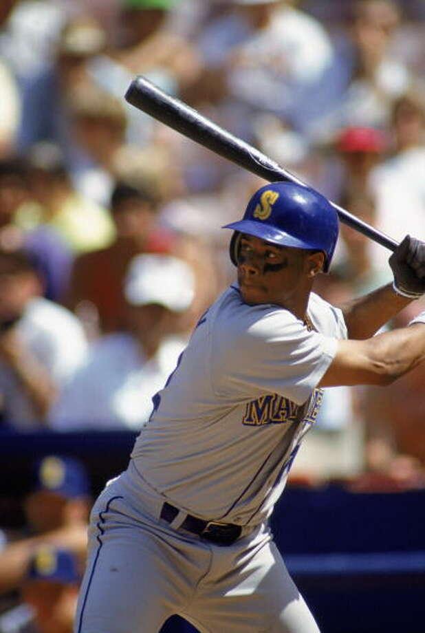 1992 Ken Griffey Jr. -- 27 home runscenter fielder  Next four: 25 -- Jay Buhner, RF 18 -- Edgar Martinez, 3B 16 -- Tino Martinez, 1B 14 -- Pete O'Brien, DH  Photo: Ken Levine, Getty Images / 1992 Getty Images