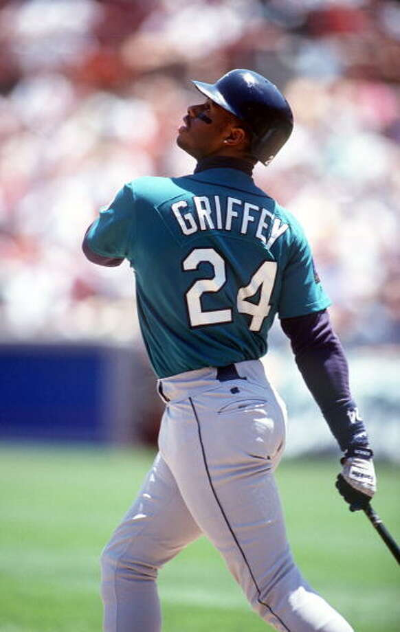 1994 Ken Griffey Jr. -- 40 home runs center fielder  Next four: 21 -- Jay Buhner, RF 20 -- Tino Martinez, 1B 13 -- Edgar Martinez, 3B 10 -- Eric Anthony, LF  Photo: Jed Jacobsohn, Getty Images / Getty Images North America