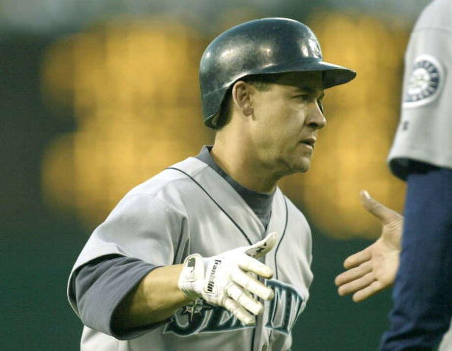 2003 Bret Boone -- 35 home runssecond baseman  Next four: 24 -- Edgar Martinez, DH 18 -- Mike Cameron, CF 13 -- Ichiro Suzuki, RF 11 -- Randy Winn, LF  Photo: Stephen Dunn, Getty Images / 2003 Getty Images