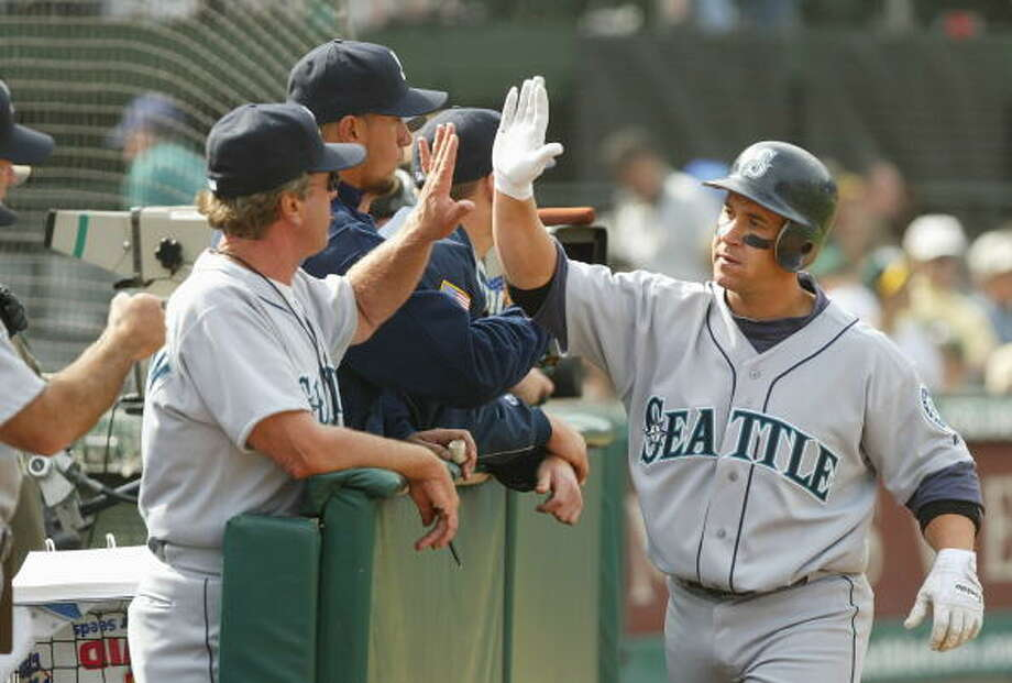 2004 Bret Boone -- 24 home runssecond baseman  Next four: 16 -- Raul Ibañez, LF 14 -- Randy Winn, CF 12 -- Edgar Martinez, DH 10 -- Scott Spiezio, 3B  Photo: Justin Sullivan, Getty Images / 2004 Getty Images