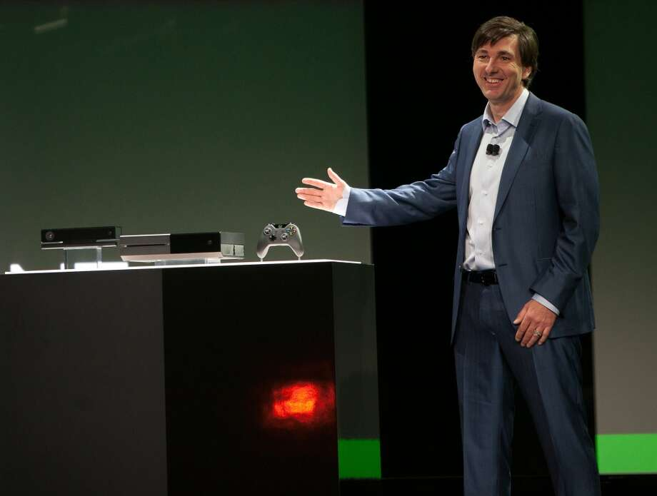 Don Mattrick, president of interactive entertainment business at Microsoft Corp. speaks at an unveiling for the first new Xbox in almost eight years in Redmond, Washington, U.S., on Tuesday, May 21, 2013. The player, called Xbox One, is set to go on sale later this year and will use voice commands and motion sensing to recognize users and let them switch seamlessly between games, live TV and Skype video calling.