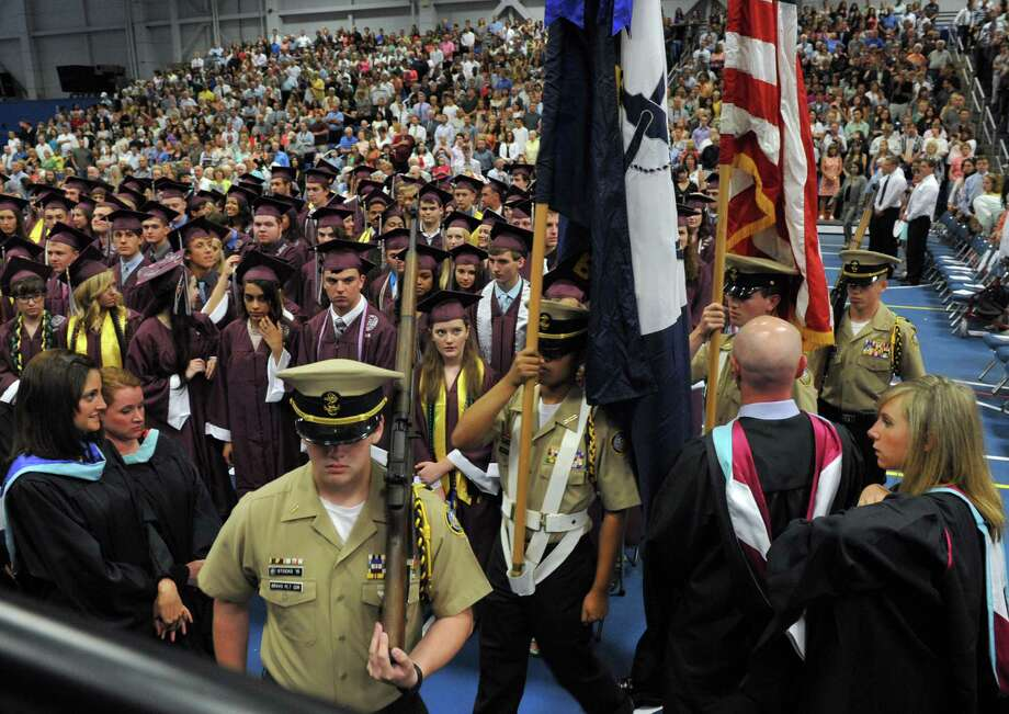Bethel High School held its graduation ceremonies Wednesday, June 19, 2013, at the O'Neill Center at Western Connecticut State University, in Danbury, Conn. Photo: Carol Kaliff / The News-Times