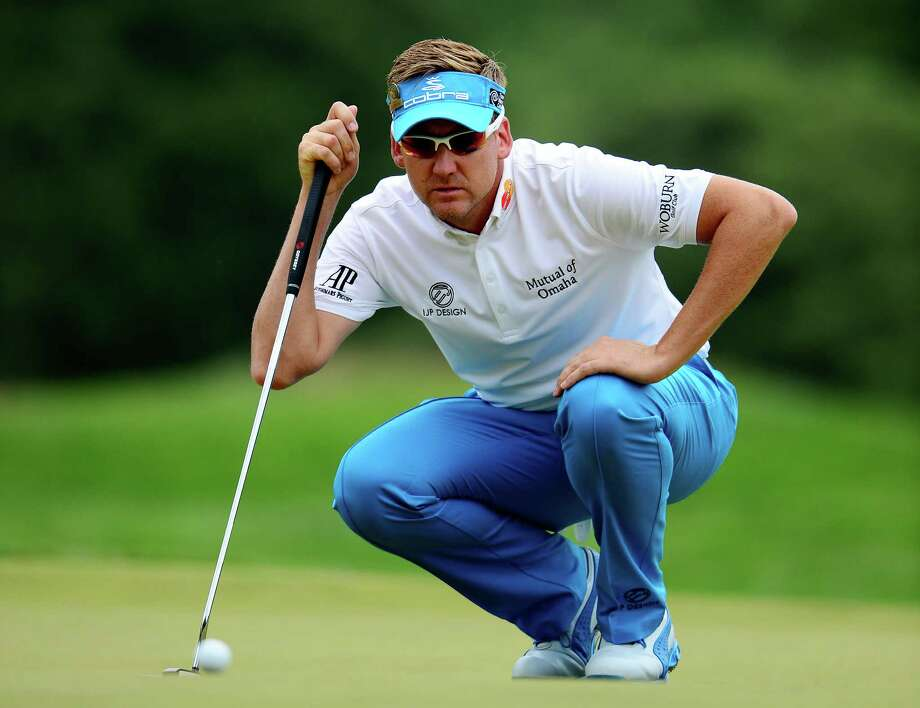 ARDMORE, PA - JUNE 16:  Ian Poulter of England lines up a putt on the first hole during the final round of the 113th U.S. Open at Merion Golf Club on June 16, 2013 in Ardmore, Pennsylvania. Photo: David Cannon, Getty Images / 2013 Getty Images