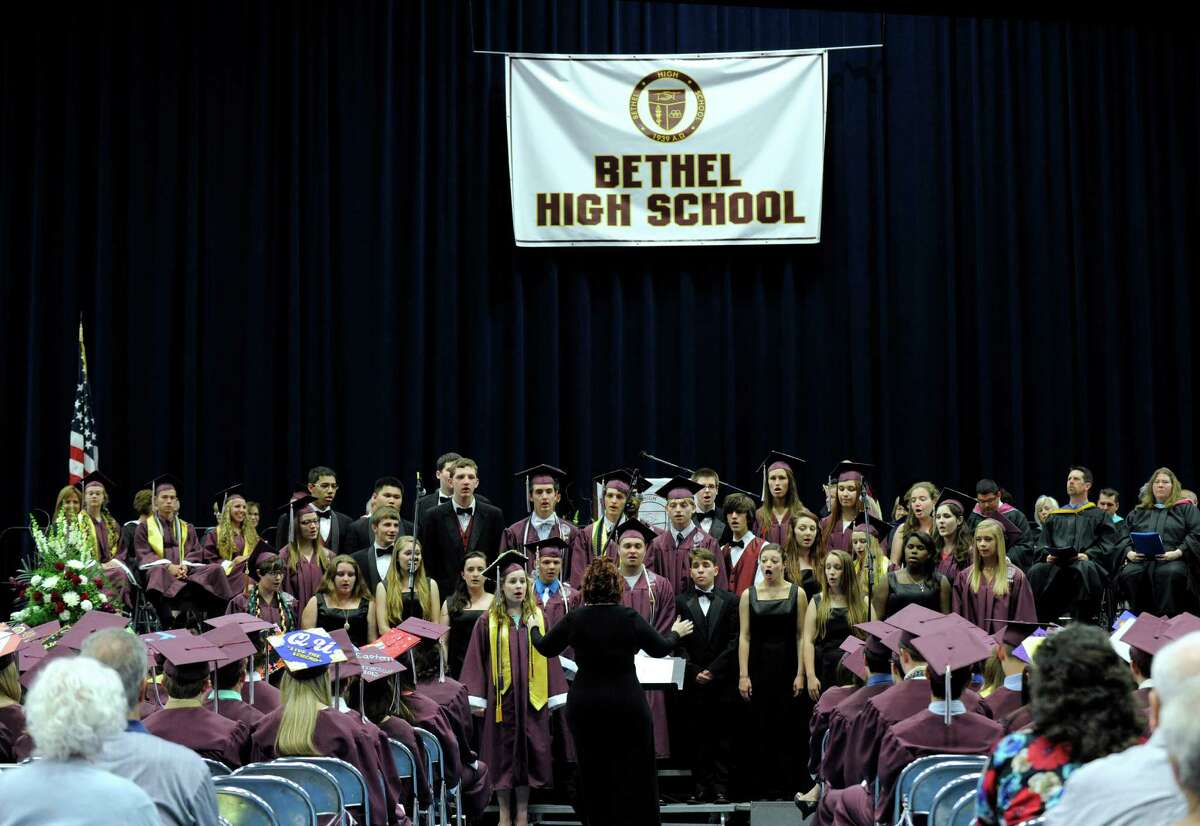 Bethel High School held its graduation ceremonies Wednesday, June 19, 2013, at the O'Neill Center at Western Connecticut State University, in Danbury, Conn.