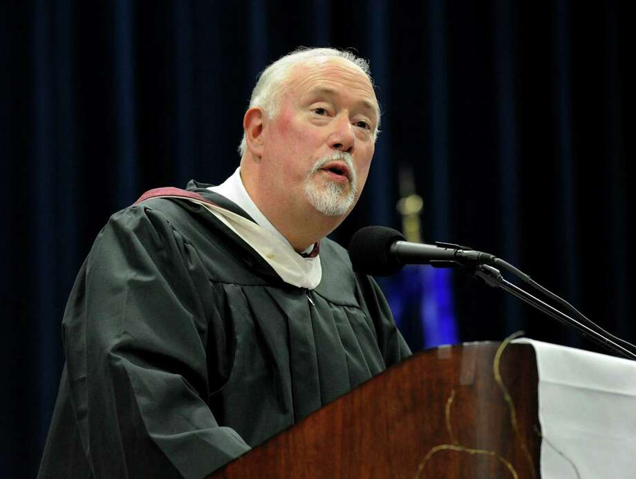 Brian Kirmil, Principal of Rockwell School is the graduation speaker Wednesday evening. Bethel High School held its graduation ceremonies Wednesday, June 19, 2013, at the O'Neill Center at Western Connecticut State University, in Danbury, Conn. Photo: Carol Kaliff / The News-Times