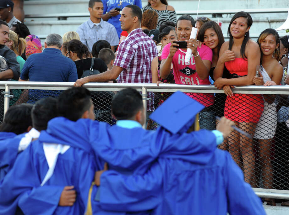 Warren Harding High School's 87th Annual Commencement ceremony held at Central High School's Kennedy Stadium in Bridgeport, Conn. on Wednesday June 19, 2013. Photo: Christian Abraham / Connecticut Post