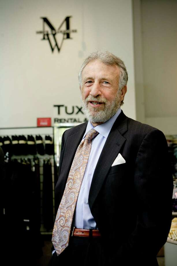 Portrait of  Men's Wearhouse founder, chairman, spokeperson and former CEO George Zimmer at the San Francisco's downtown store on Market St.  (Photo by Vasna Wilson/Freelance) Photo: Vasna Wilson WilsonManish Tandon, Freelance / Vasna Wilson