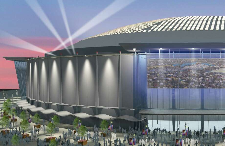 A rendering of the renovated Astrodome for the Dome Public Purpose Recommendation. The Dome's fate hinges on a $217 million bond package on the ballot. / Harris County Sports and Convent