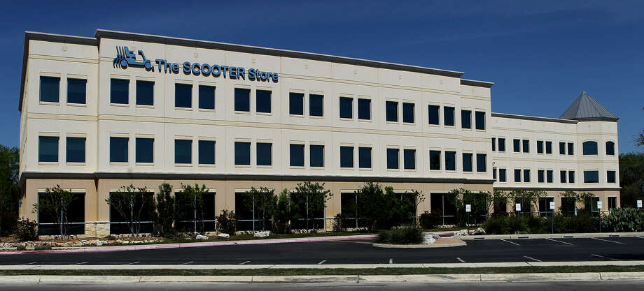 The Scooter Store in New Braunfels is undergoing bankruptcy reorganization and has been the subject of a raid by federal investigators. Comal County officials are interested in the office space, should it become available, for a county-courts complex. Photo: John Davenport / San Antonio Express-News