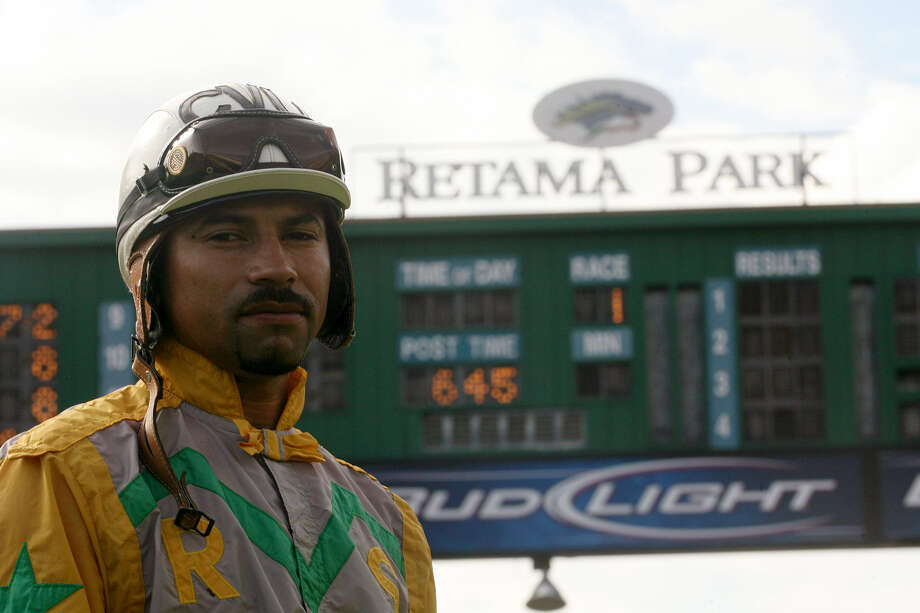 Cipriano Vidaña, a jockey at Retama Park, developed his passion for horse racing while growing up in Mexico. Photo: Photos By Cynthia Esparza / For The Express-News