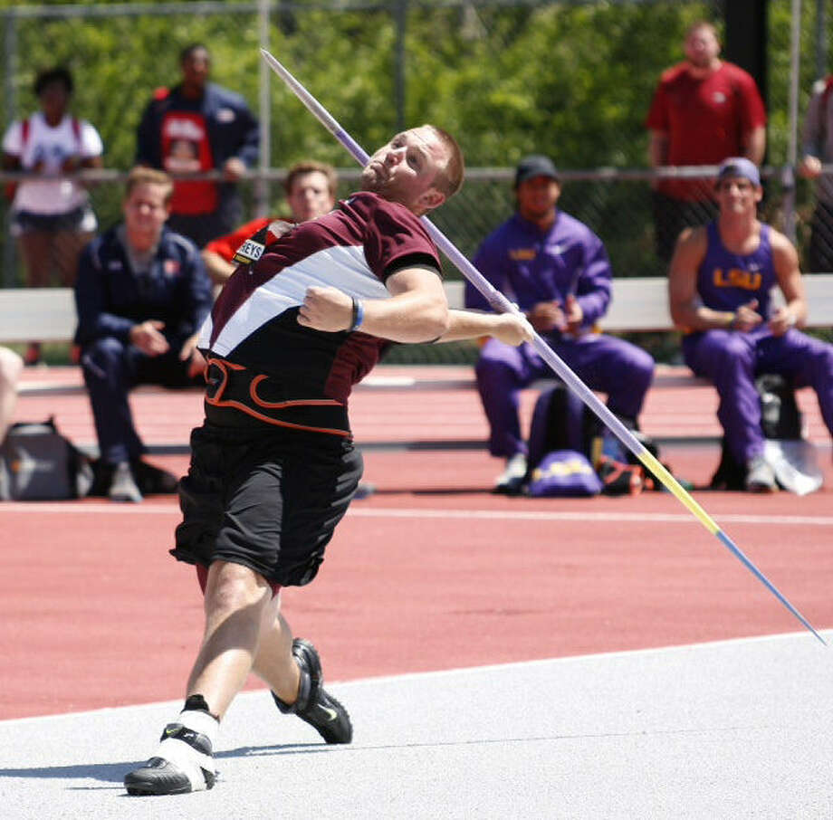 Sam Humphreys, who grew up in Laredo, holds the Texas A&M record for a javelin throw at 268 feet, 8 inches. Photo: Laredo Morning Times