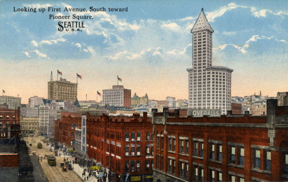 30 - Iconic buildings that get press around the world, such as the downtown library, the EMP, SAM, Smith Tower, old Pac-Med building, etc. Photo: Curt Teich Postcard Archives, Getty Images / Curt Teich Postcard Archives
