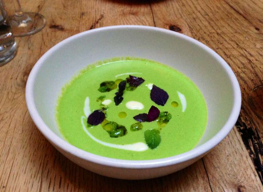Chilled pea soup ($15)