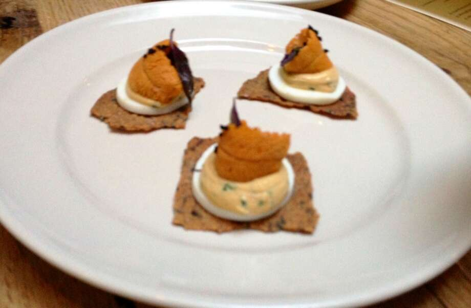 Deviled egg with uni ($9)