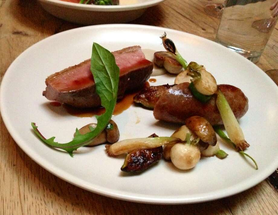 Duck breast and sausage ($30)